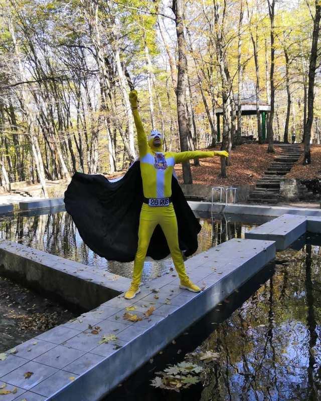Супергерой поселился в Таманском лесу Ставрополя