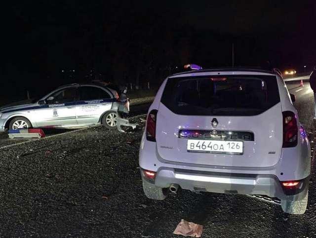3 автомобиля ДПС всмятку протаранил пьяный водитель внедорожника на Ставрополье