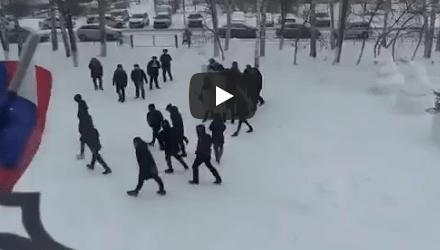 В Новотроицкой средней школе Татарстана местное МВД провело очень необычные учения