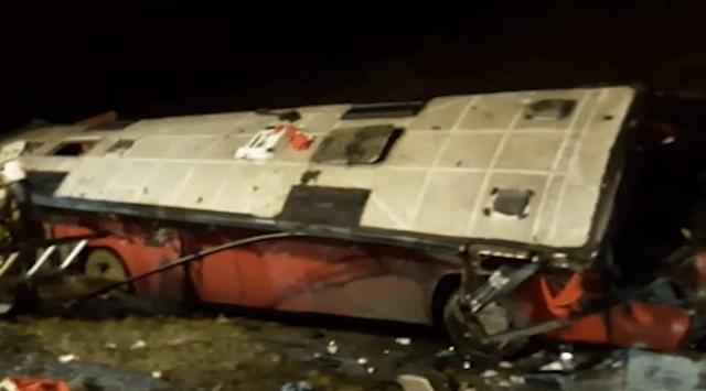 В Липецкой области рейсовый автобус опрокинулся в кювет