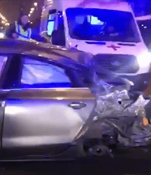 В центре Санкт-Петербурга  авария с автобусом — есть пострадавшие
