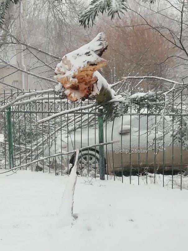 8 населенных пунктов осталось без света из-за урагана на Ставрополье