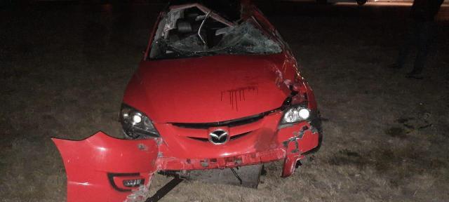 Три пассажира «Мазды» получили травмы в аварии под Железноводском