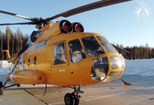 Неизвестные обстреляли картечью вертолёт Ми-8 в Коми