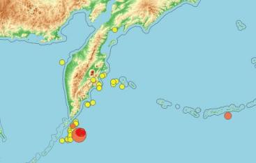 Рядом с Курилами произошло землетрясение. Толчки ощущались в местных городах
