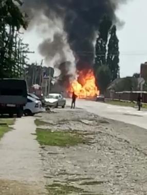 В Краснодарском крае взорвался бензовоз