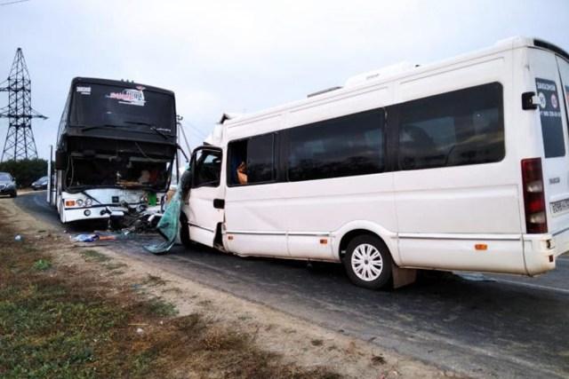 Автобус «Анапа – Ессентуки» попал в ДТП на Кубани