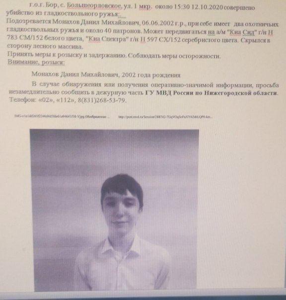 Стрельбу в Нижегородской области открыл 18-летний парень