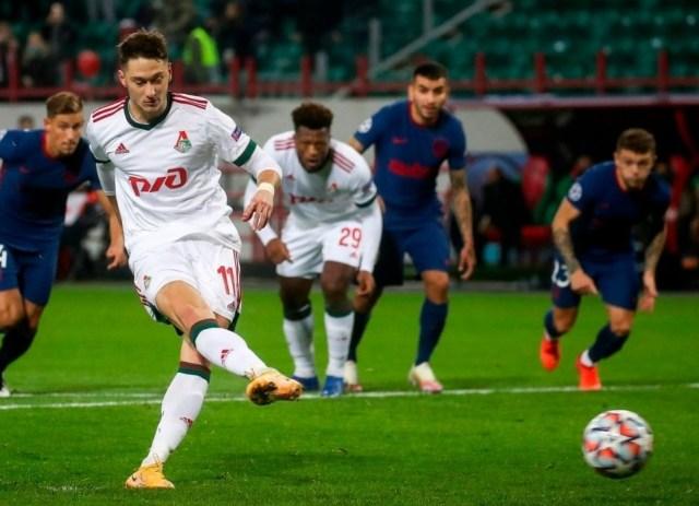 Локомотив сыграл вничью с мадридским Атлетико в матче группового этапа Лиги чемпионов