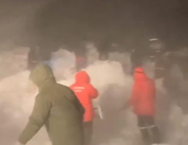 В Красноярском крае сошла лавина