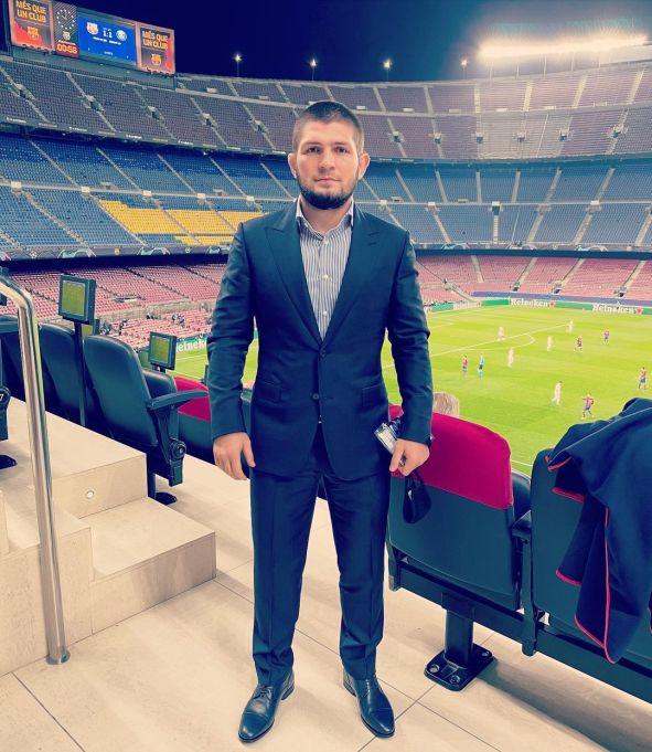 На матче Лиги Чемпионов побывал Хабиб Нурмагомедов