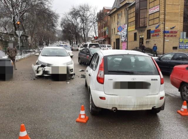Тройное ДТП произошло в Пятигорске