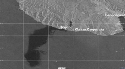 Площадь разлива нефти у Новороссийска оказалась в 400 тысяч раз больше, чем сообщалось ранее