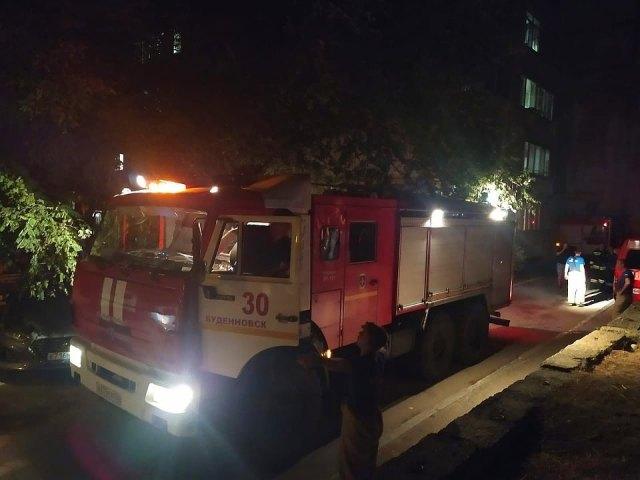 Несколько жителей Буденновска пострадали от угарного газа при пожаре