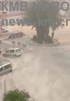 В Испании прошёл мощный дождь с градом
