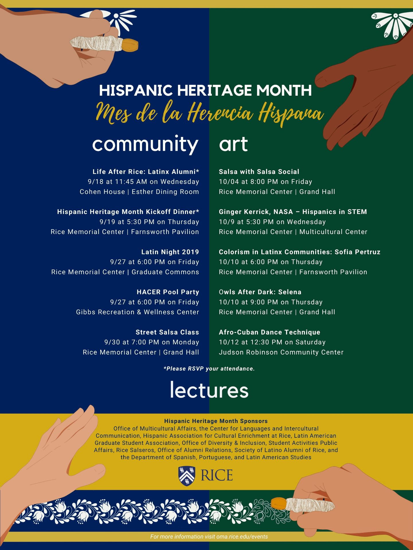 Rice Honors Hispanic Heritage Month With Dances Dinners