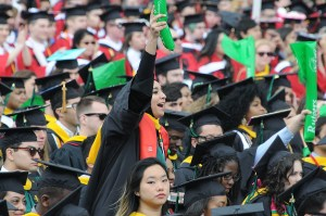 President Obama gives the commencement address at Rutgers University, May 15, 2016.