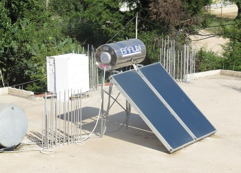 Solar panels are ubiquitous to generate hot water… in Albania, where 70% of electricity comes from hydroelectric power © 2016 Karen Rubin/news-photos-features.com