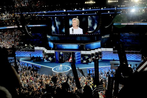 Hillary Rodham Clinton addresses the Democratic National Convention © Karen Rubin/news-photos-features.com