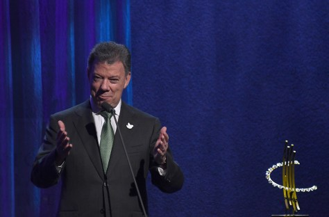 President Juan Manuel Santos of Colombia received the Clinton Global Citizen Award for his courage ending a 50-year war © 2016 Karen Rubin/news-photos-features.com