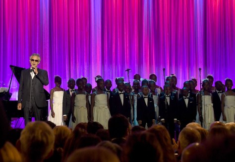 Andrea Bocelli performed at the 10th Annual Clinton Global Citizen Awards with the Voices of Haiti Choir © 2016 Karen Rubin/news-photos-features.com