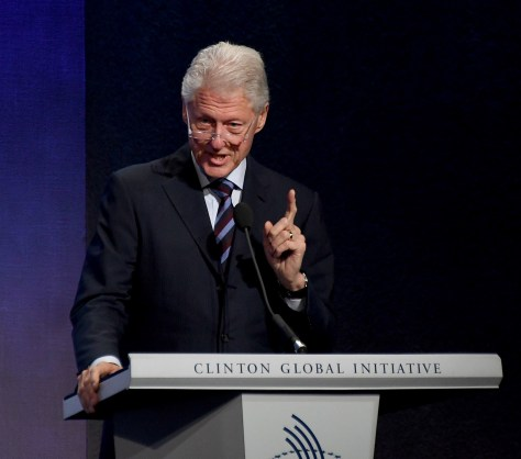 President Bill Clinton at the 2016 Clinton Global Initiative © 2016 Karen Rubin/news-photos-features.com