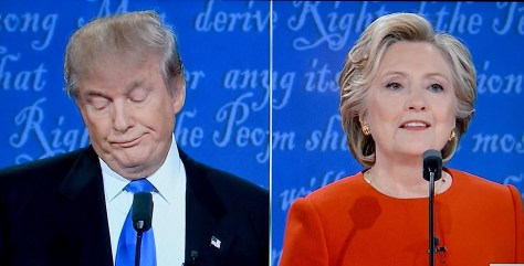 Hillary Clinton used Donald Trump's own words against him, while making a forceful case for her own policies, during their first presidential debate, at Hofstra University, Long Island © 2016 Karen Rubin/news-photos-features.com