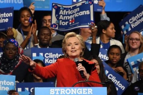 Hillary Clinton at a rally following the first presidential debate at Hofstra University, Long Island © 2016 Karen Rubin/news-photos-features.com