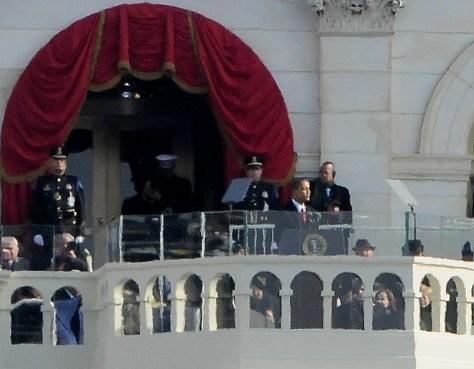 President Barack Obama giving his Inaugural Address, Jan. 20, 2009 © 2017 Karen Rubin/news-photos-features.com