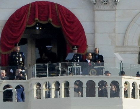 President Barack Obama giving his Inaugural Address, Jan. 20, 2009 © 2017 Karen Rubin/news-photos-features.com