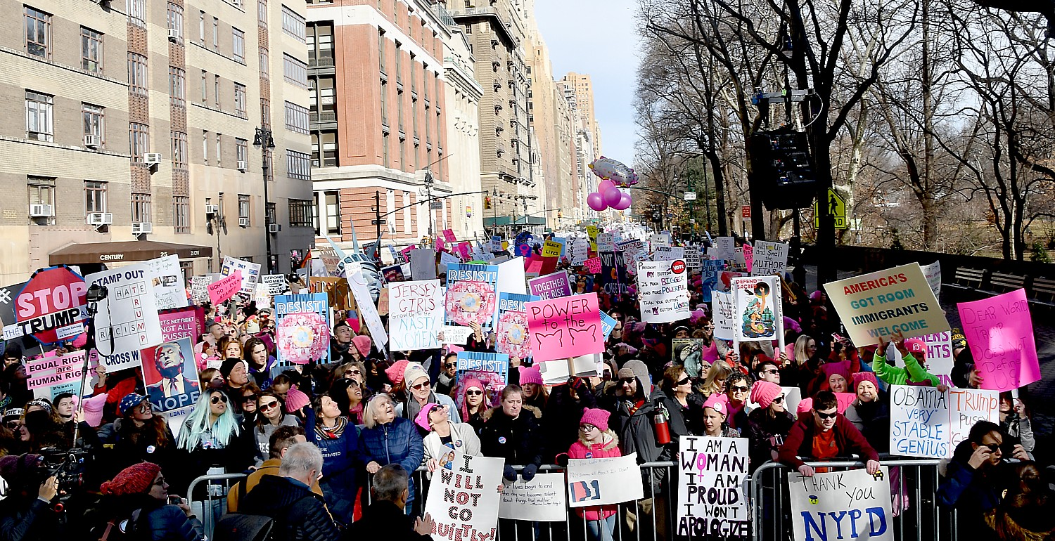 93278ea5b15ae8 The line-up for the Womens March NYC extended along Central Park West to  86th Street for an official total of 200,000 © 2018 Karen ...