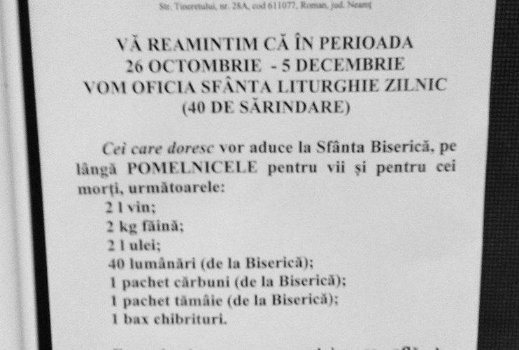 """Ce cred romașcanii despre """"taxele"""" impuse de Arhiepiscopia Romanului"""