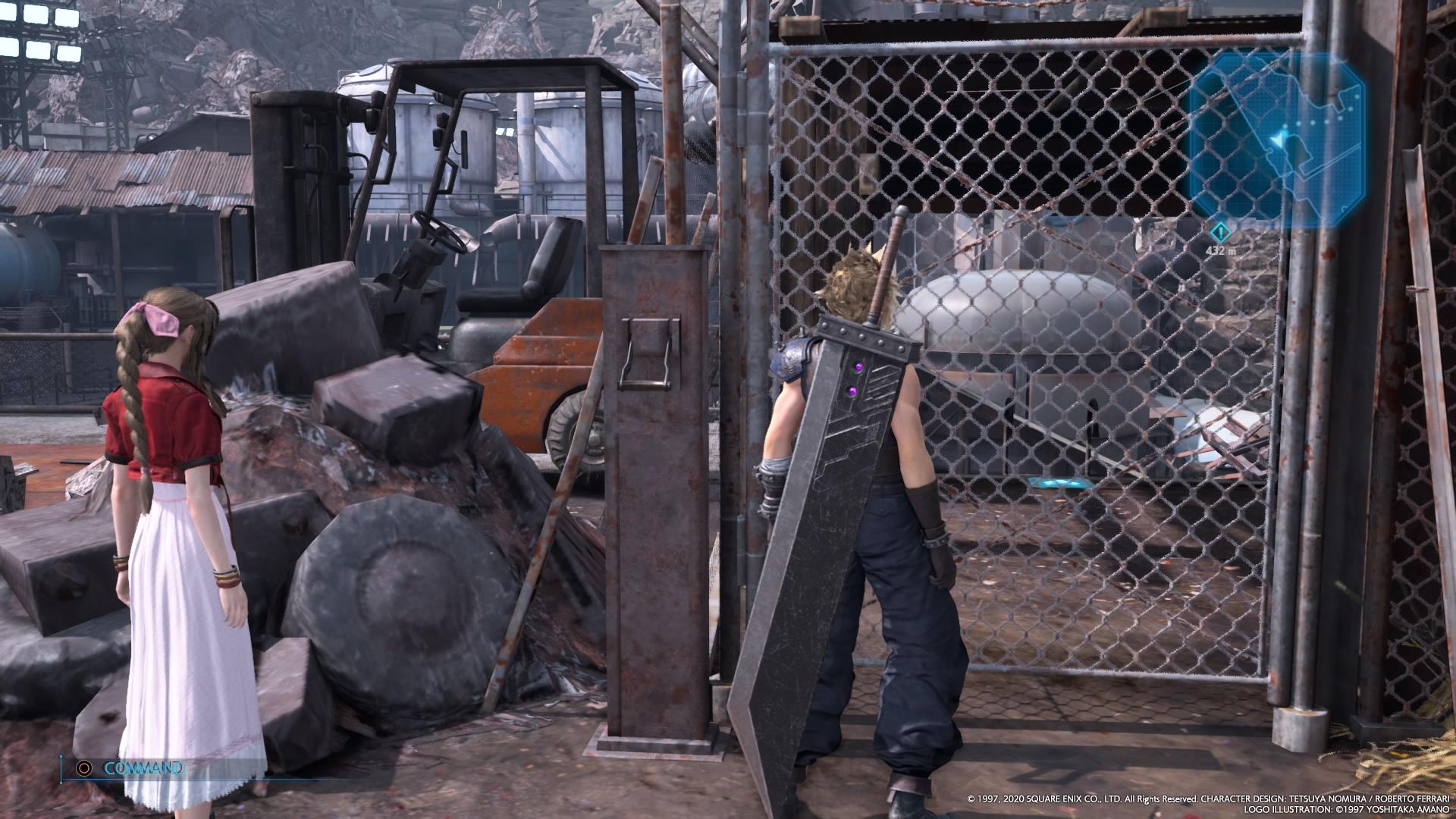 FF7R(リメイク) チャプター8 サブクエ(EXクエスト)「開かないゲート」の場所はどこ?クリアにならないのはバグ?【エキストラクエスト・ファイナルファンタジー7】