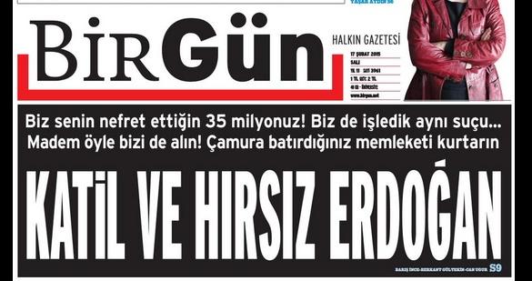«Убийца и вор Эрдоган» равняется году лишения свободы