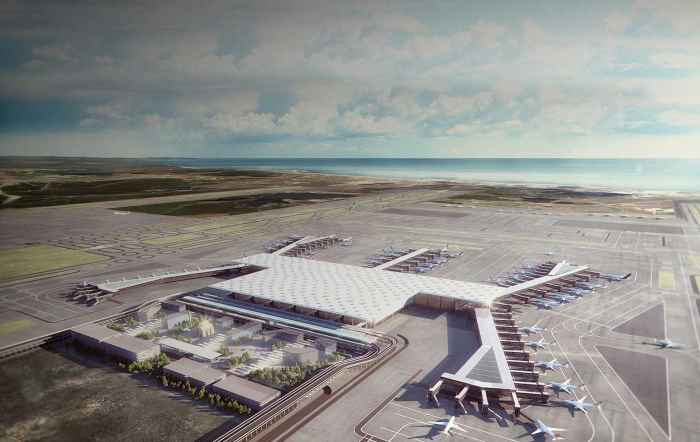 Третий аэропорт Стамбула строят 13 тысяч человек