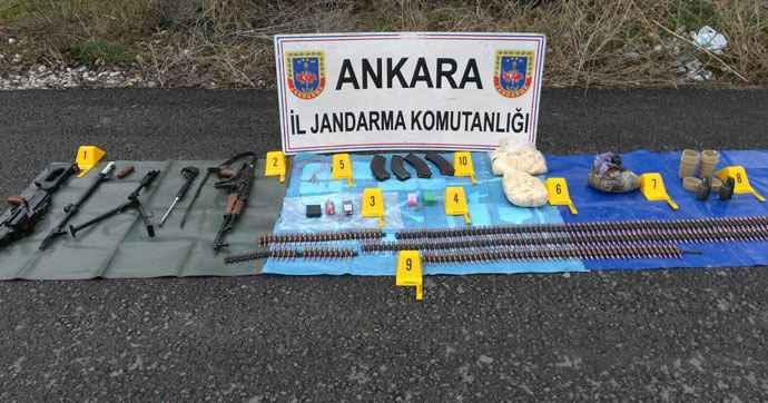 Жандармерия Анкары обнаружила тайник рядом с КПП
