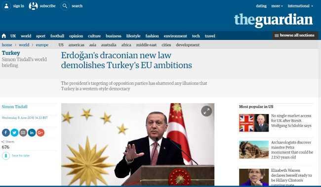 Новый драконовский закон Эрдогана уничтожит амбиции Турции по вступлению в ЕС