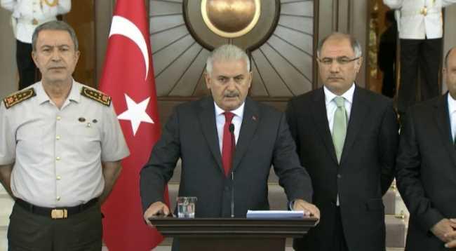 Йылдырым выступил с обращением к народу Турции