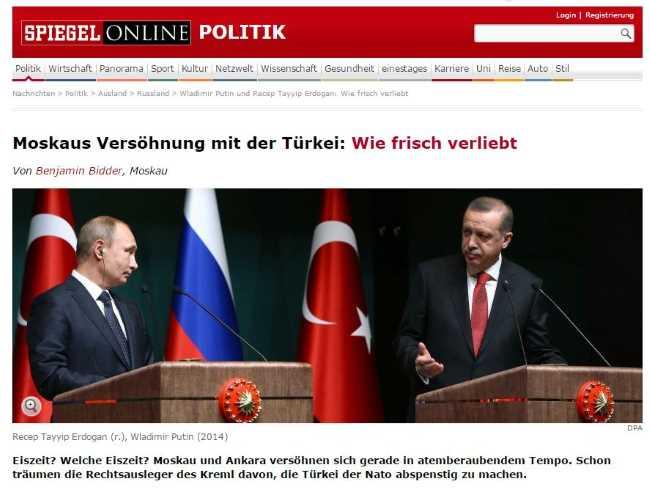 Примирение Москвы с Турцией: как молодые влюбленные
