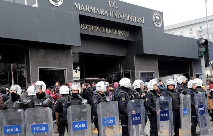 Полиция разогнала протесты в университетах Мармара и Коджаэли