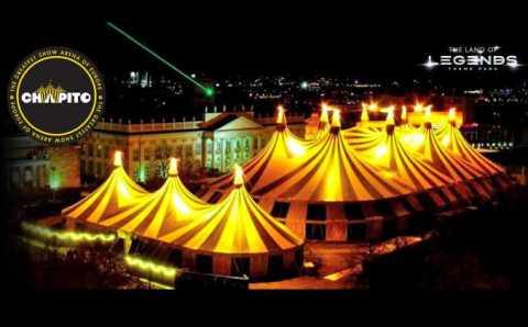 Грандиозный цирк-шапито расположился в Белеке
