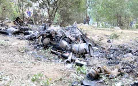 13 военных погибли при крушении вертолета
