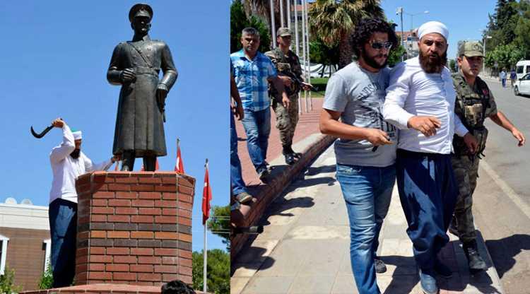 Мужчина напал с серпом на Ататюрка