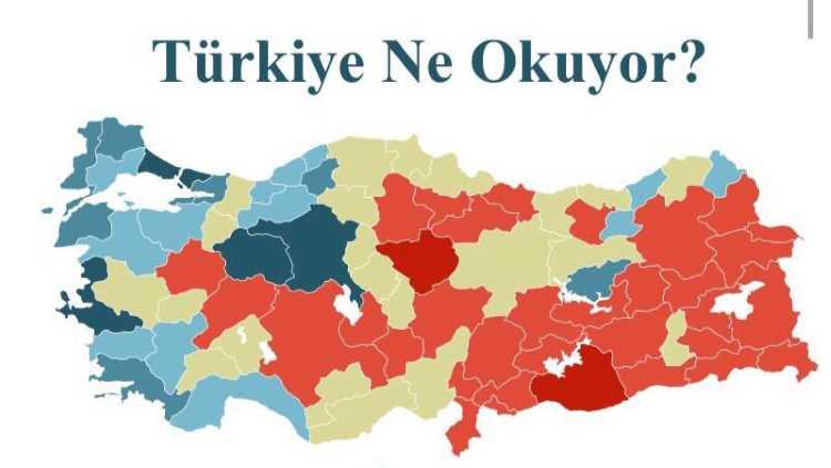 Названы самые читающие провинции Турции