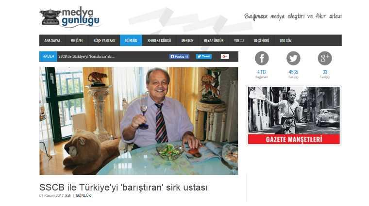 Мастер цирка, «помиривший» Турцию с СССР