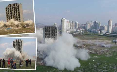 Кто кого: 300 кг динамита или 13-этажный дом в Бурсе?
