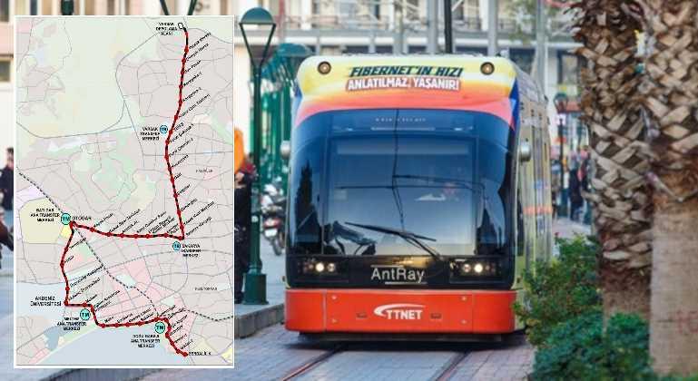 Новая трамвайная линия соединит 3 района Анталии