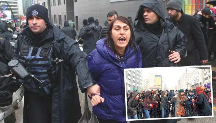 Полиция Анкары разогнала женский митинг перед 8 марта