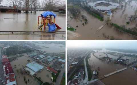 Исторические районы Эдирне оказались под водой