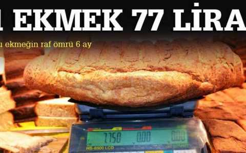 Хлеб с весомым ценником: 77 лир за булку